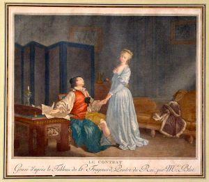 """""""Le contrat"""", Jean-Honré Fragonard, 1792"""